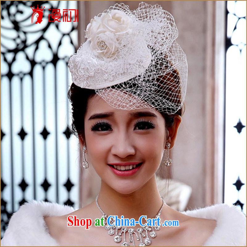 Early definition 2015 new bridal headdress Korean bridal headdress Web yarn water drill hat veil, trim the hat, early definition, shopping on the Internet
