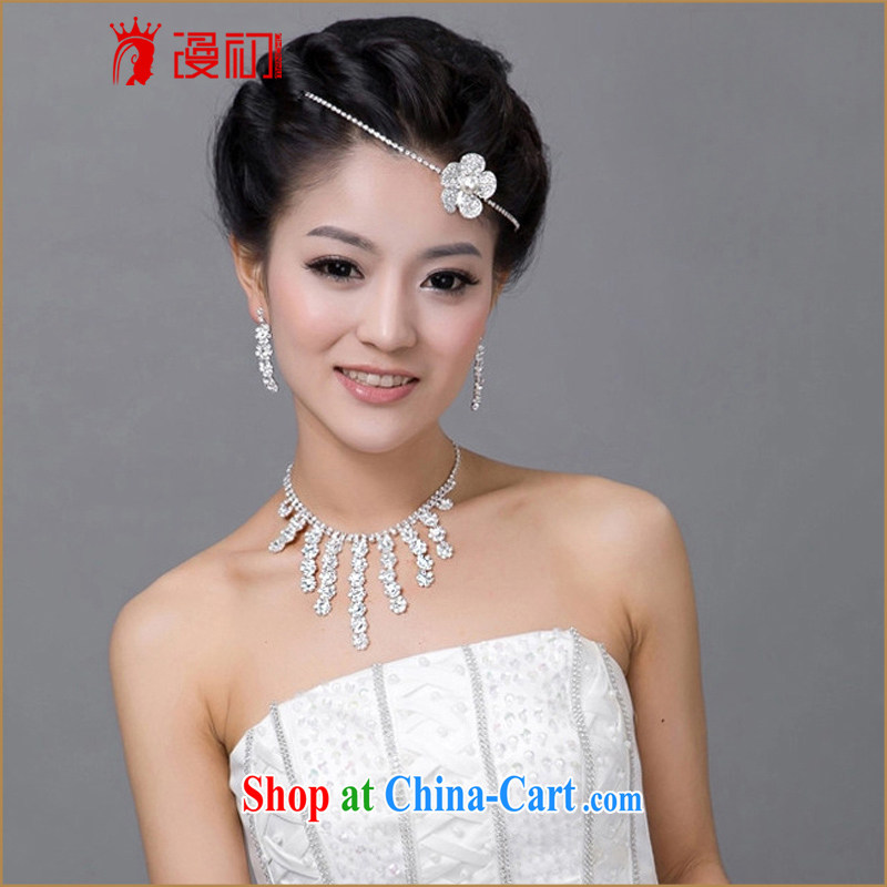 Early definition 2015 new wedding ceremony dress, water diamond necklace earrings and ornaments Kit wedding accessories