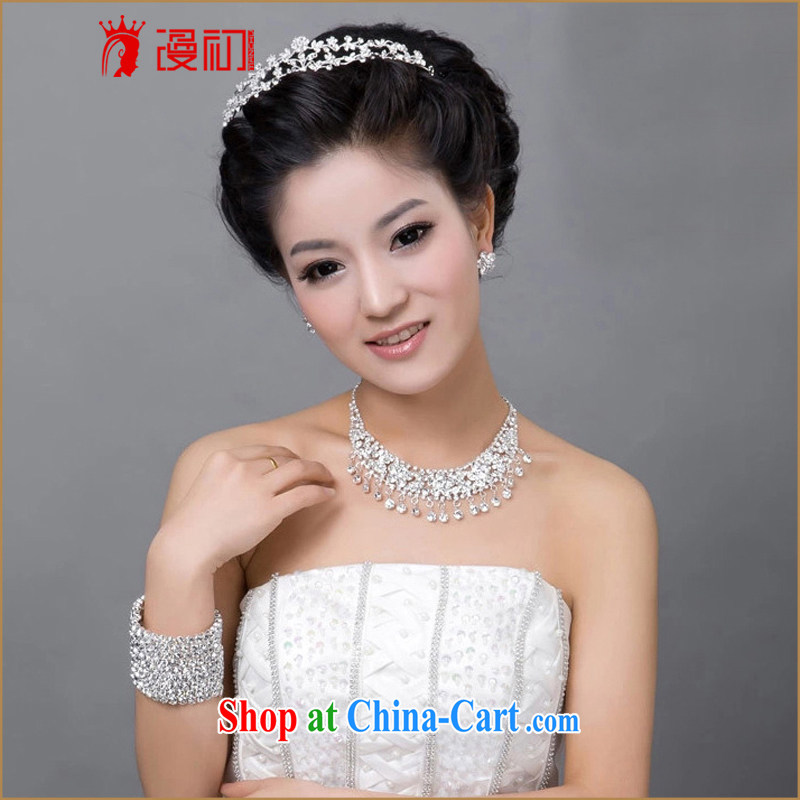 Early definition 2015 new bridal jewelry package Crown necklace earrings wedding dresses accessories