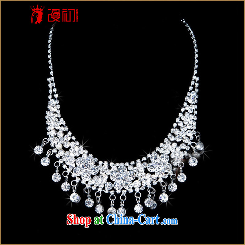 Early definition 2015 new bridal jewelry package Crown necklace earrings wedding dresses accessories, animated, and, shopping on the Internet