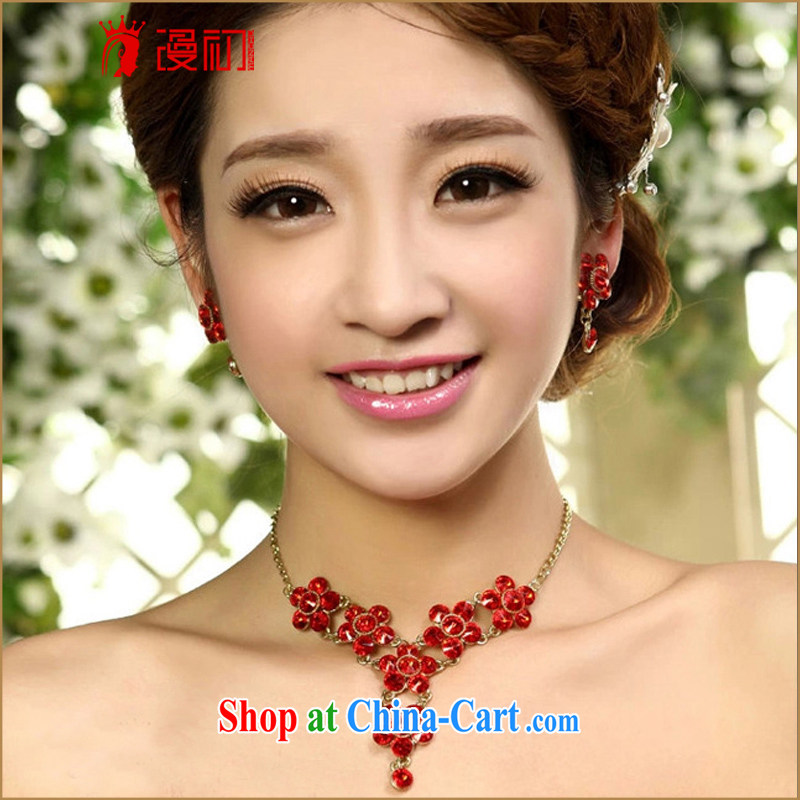 Early definition 2015 new marriages necklace jewelry red water diamond necklace wedding dresses accessories, diffuse, and shopping on the Internet