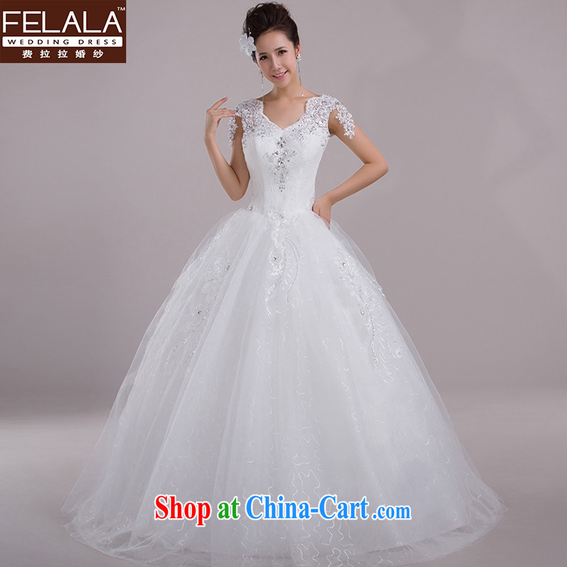 Ferrara wedding dresses 2015 new spring field shoulder Korean marriages shaggy skirts the drill large code white XL