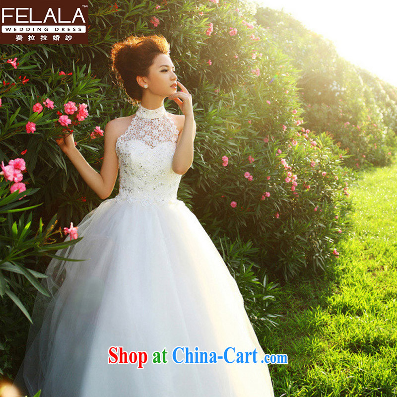 Ferrara marriages 2015 new large, Korea mounted also retro lace high waist wedding dresses spring white M Suzhou shipping