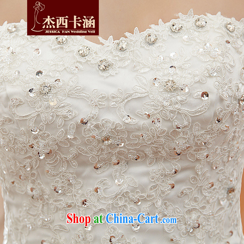 Jessica covers wedding dresses 2014 new stylish wipe the chest, small tail bridal crowsfoot female marriages 2108 m White XL, Jessica (jessica han), and, on-line shopping