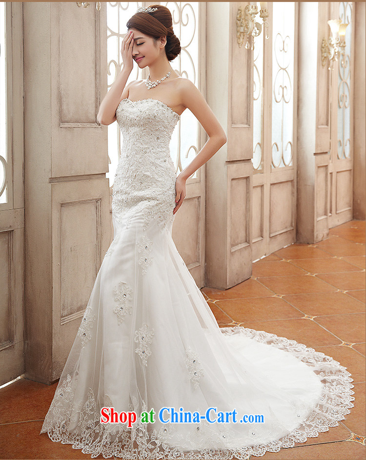 Jessica covers wedding dresses 2014 new stylish and wipe the chest, small tail bridal crowsfoot female marriages 2108 m White XL pictures, price, brand platters! Elections are good character, the national distribution, so why buy now enjoy more preferential! Health