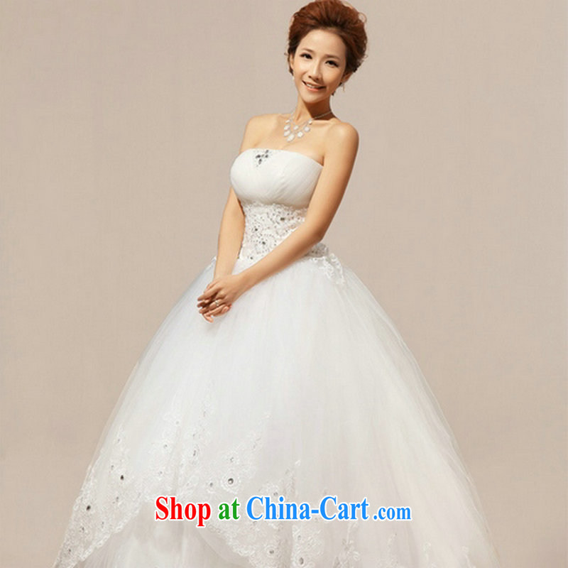 There are optimized color Kingfisher Korean-style New erase chest Flash video thin lace straps with bridal wedding dresses XS 1059 white XXXL