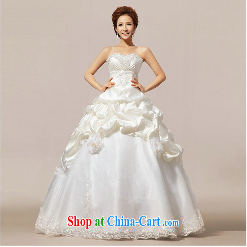It is also optimized condolence new 2014 Korean sweet Princess Mary Magdalene chest graphics thin bridal gown with wedding dresses XS 1061 white XXL