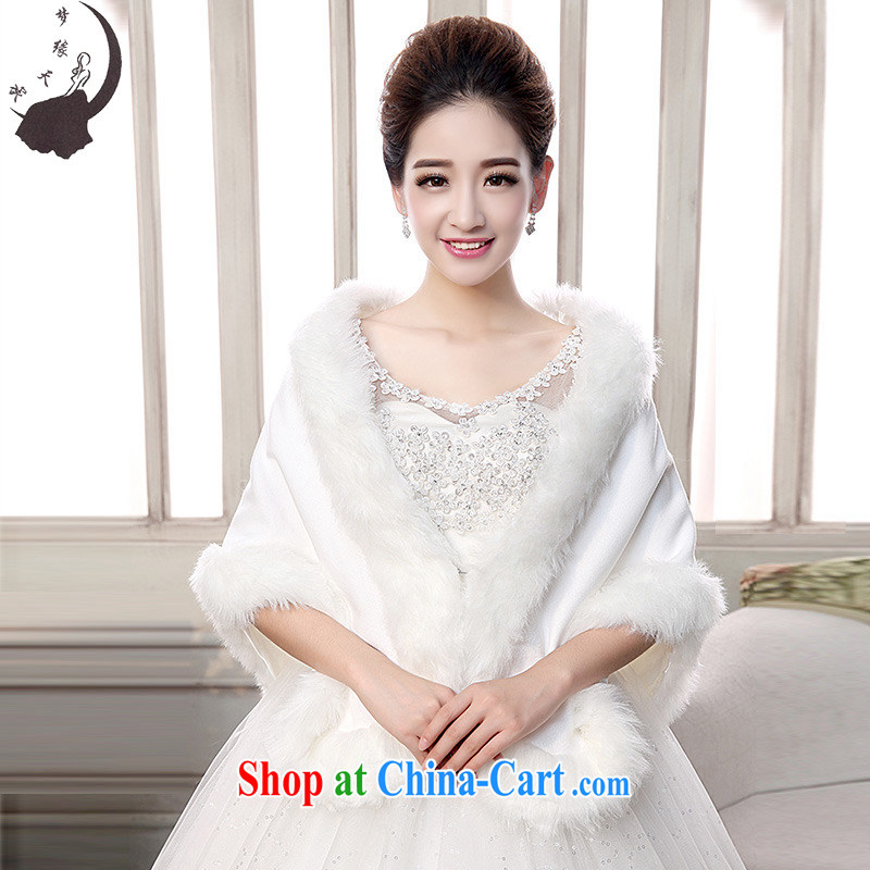Dream of the day wedding dresses accessories super deluxe white jacket bridal shawl without cuff hair shawl wedding shawl MP 72 white