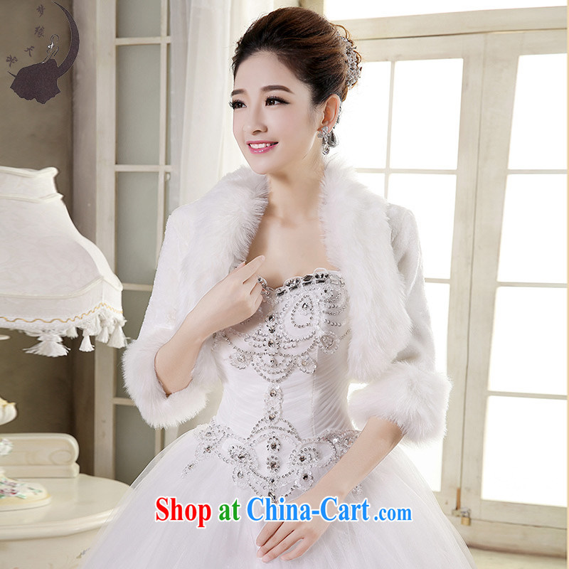 Dream of the day wedding dresses accessories super deluxe white jacket bridal wedding shawl shawl spaniel MP 71 white