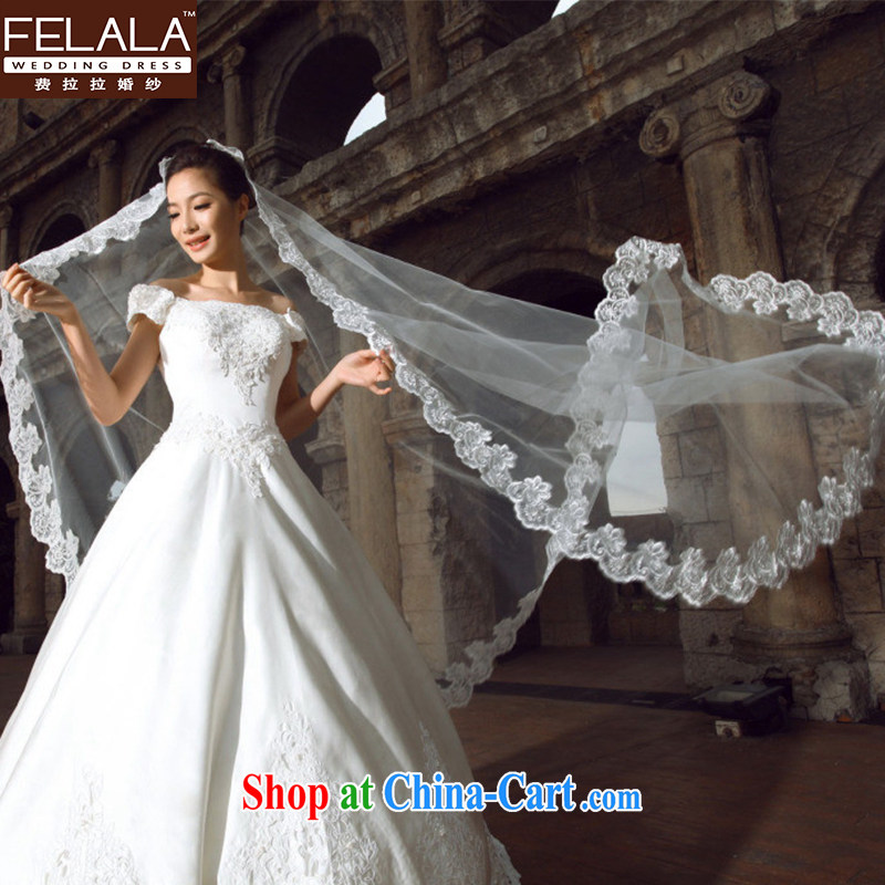 Standard take-off the sporting lace 3M retro head yarn new ultra long-tail wedding and yarn accessories white