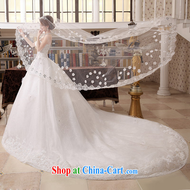 Mrs Alexa Lam go scot wedding dresses new 2014 tie-tail Korean-style smears chest strap marriages wedding dresses 15,981 white L (2.4) pre-sale within a week shipment