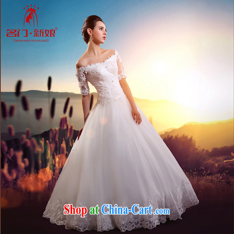 The bride's 2015 new wedding lace field shoulder shaggy wedding cuff in graphics thin wedding A L 529