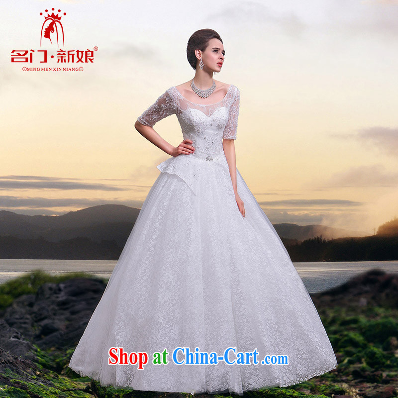 The bride's 2015 new, cuff lace Wedding Video thin the Field shoulder shaggy Princess wedding A L 523