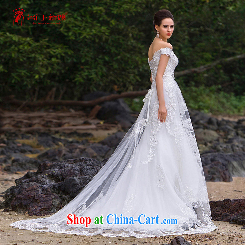 The bride's 2015 new lace crowsfoot Wedding Video thin the Field shoulder manually wedding luxury A L 563