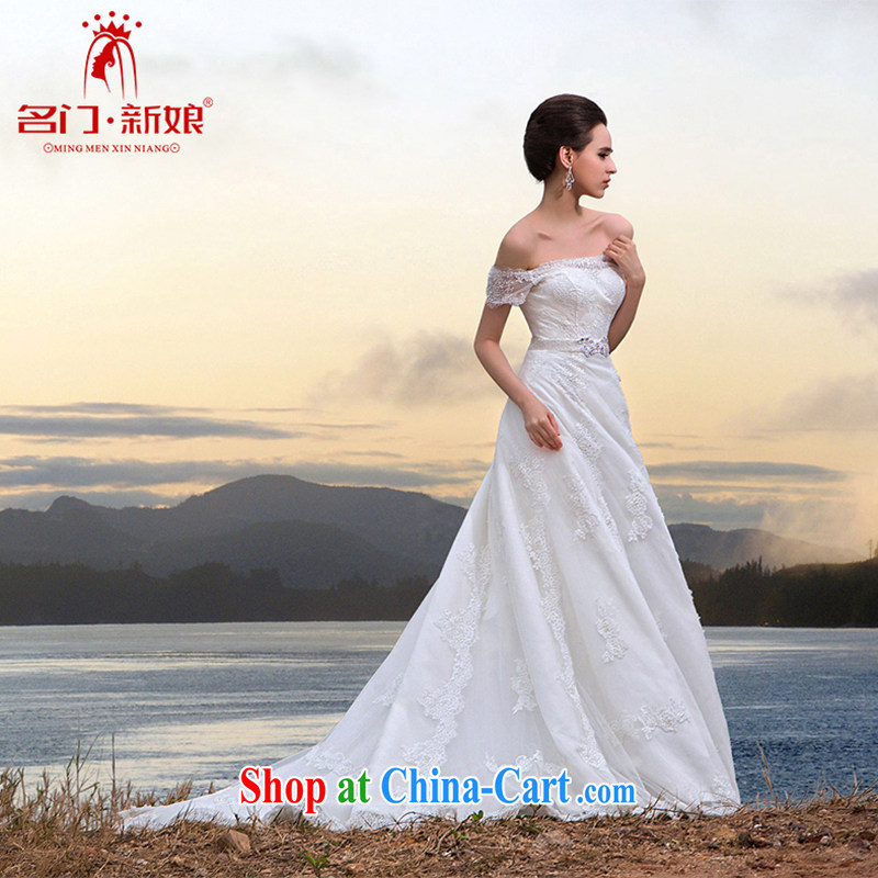 The Bridal Fashion lace tail wedding 2015 new Princess wedding luxury diamond jewelry 565 L