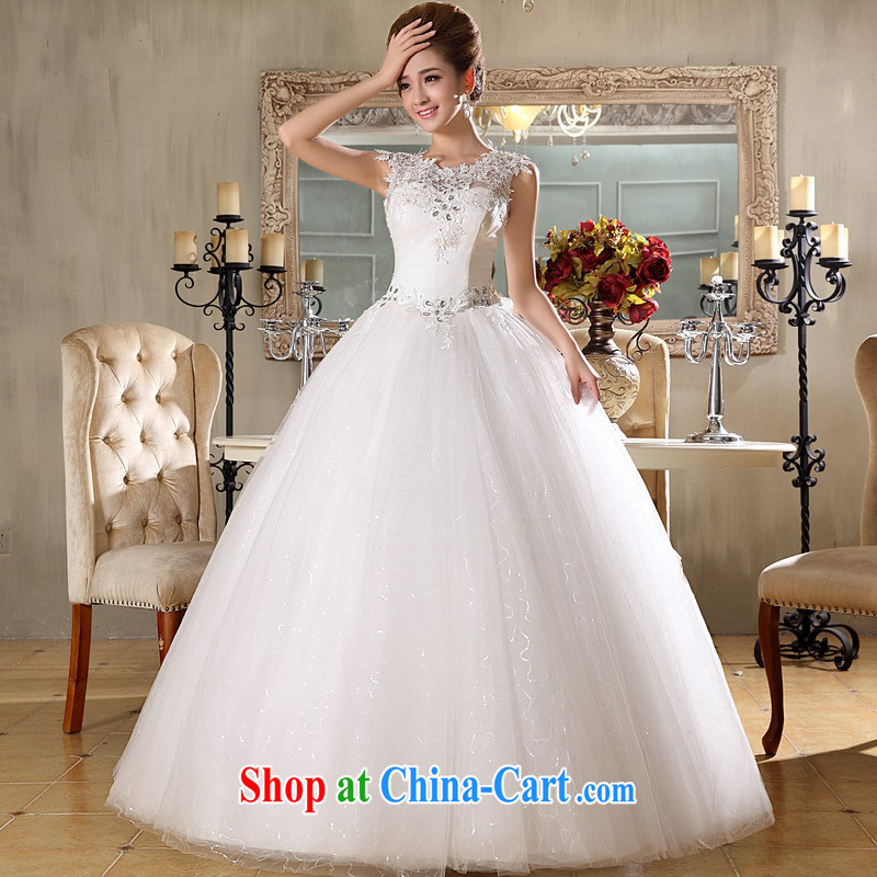 Mrs Alexa Lam go scot bridal lace shoulders wedding dresses 2014 New with stylish Korean 66,882 white L _2.0_