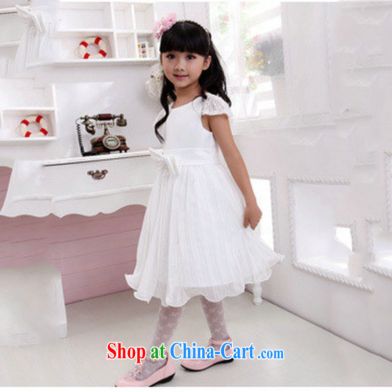 There's a new children's wear wedding clothes show shaggy flower dress dresses XS 1029 white 10 yards