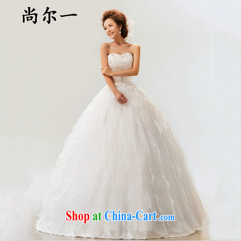 There's a new Korean style sweet tie marriages wedding dresses XS 7111 m White XXL