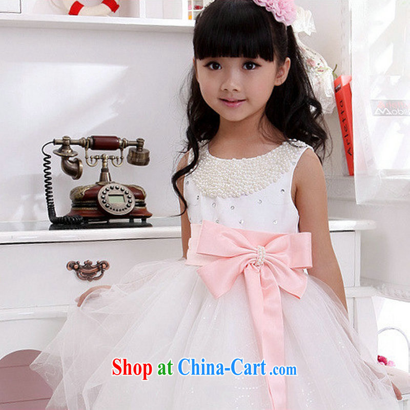 There are optimized color Kingfisher children's dress skirt Princess skirt girls dress shaggy dress flower girl dresses 1001 XS pink bowtie 10 code