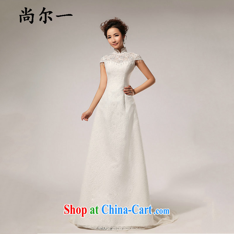 It's a lace retro field shoulder retro crowsfoot wedding dresses sexy minimalist XS 5238 m White XXL