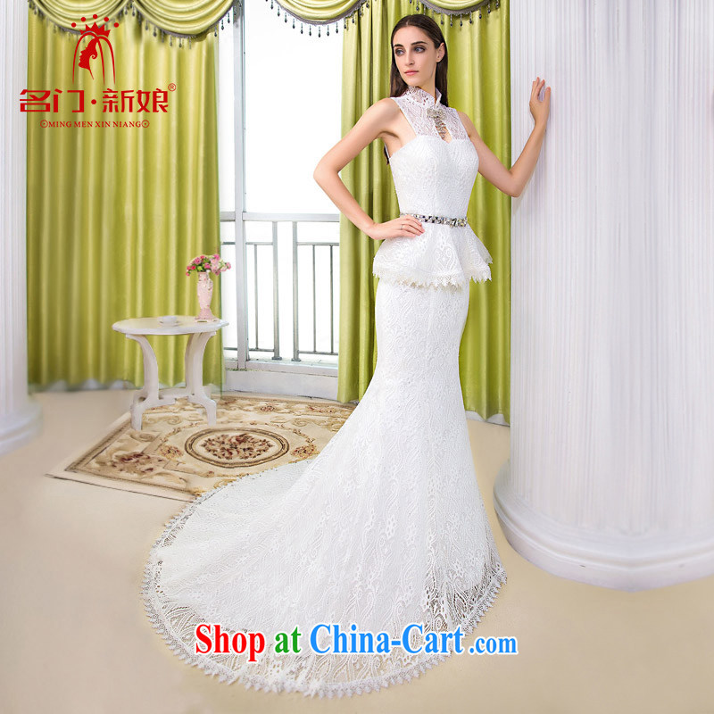 The bride's 2015 new bride wedding leave two crowsfoot wedding lace small tail wedding 540 L