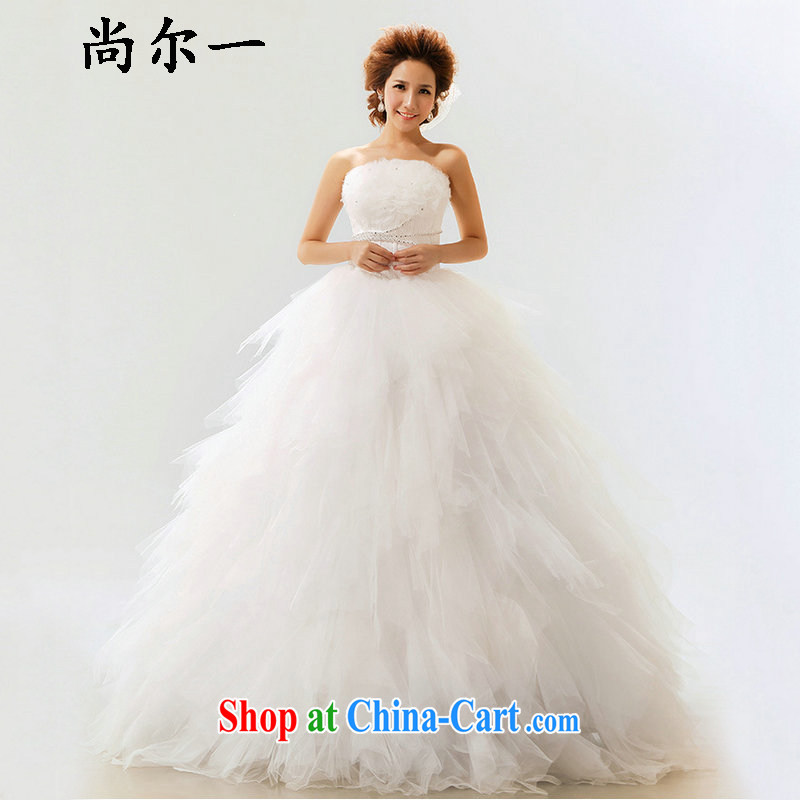 There is a Korean version of the new, imperial lace bare chest straps Princess bride's wedding not XS 5231 M white XXL