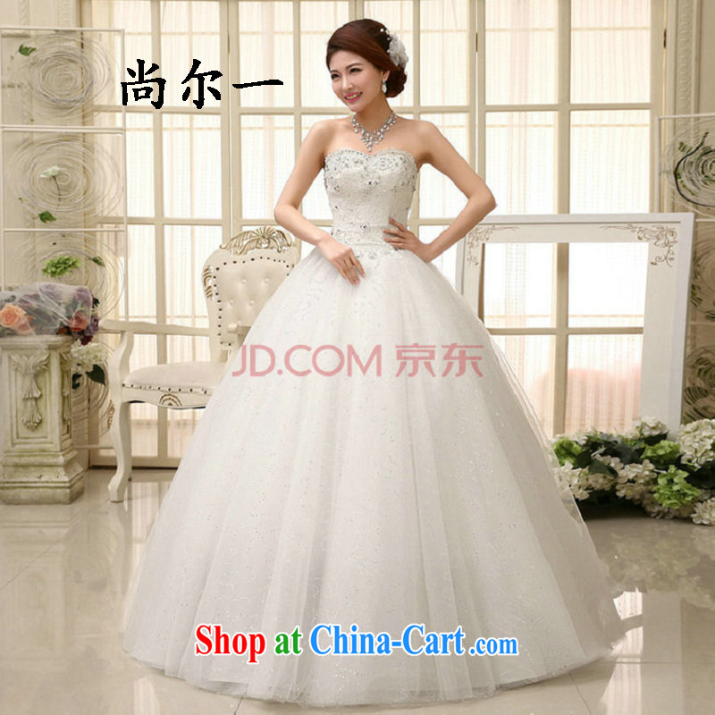 There is a Korean style sweet bridal light V collar white Korean married women spring loaded with wedding dresses 2014 new XS 0841 white XXL