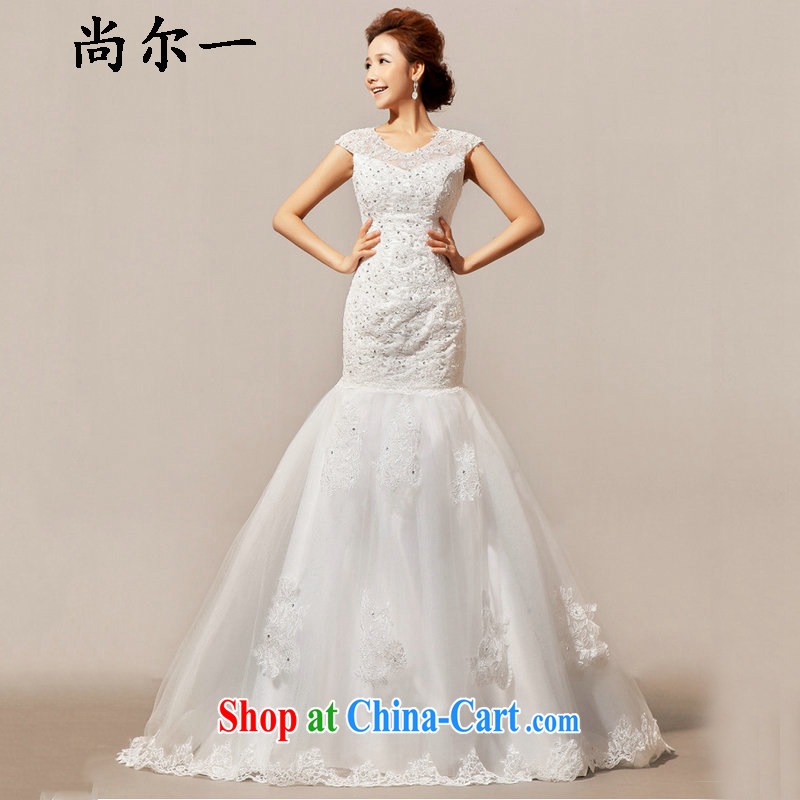 There is a new wedding tail winter field shoulder wedding XS 5228 m White XXL