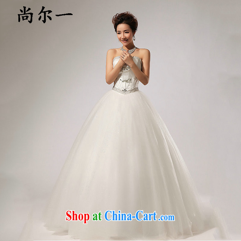 There's a bare chest wood drill with shaggy dress wedding fall dress XS 5227 m White XXL