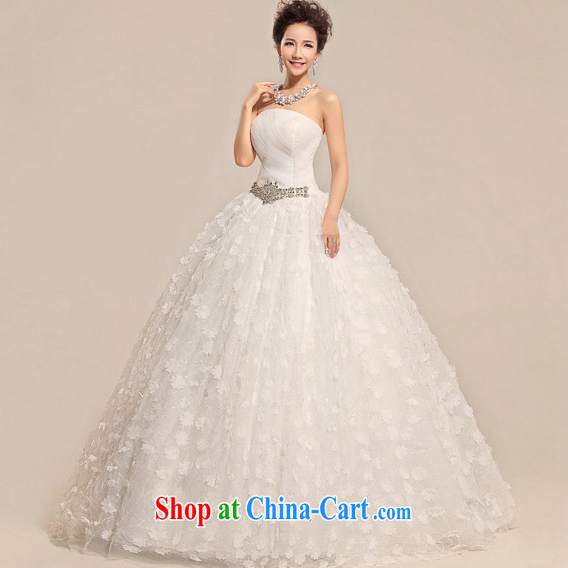 There's a new, summer 2014 Korean bridal white antique chest bare lace wedding dresses XS 6625 white XXL