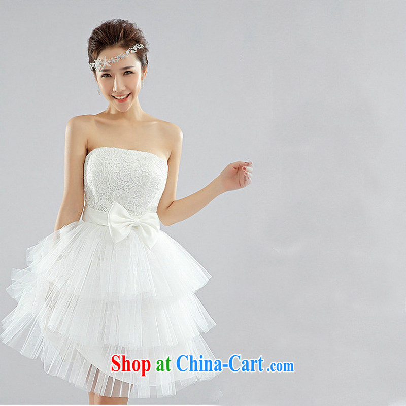 There's a bridesmaid dresses bridal wedding wedding dress XS 6624 white XXL