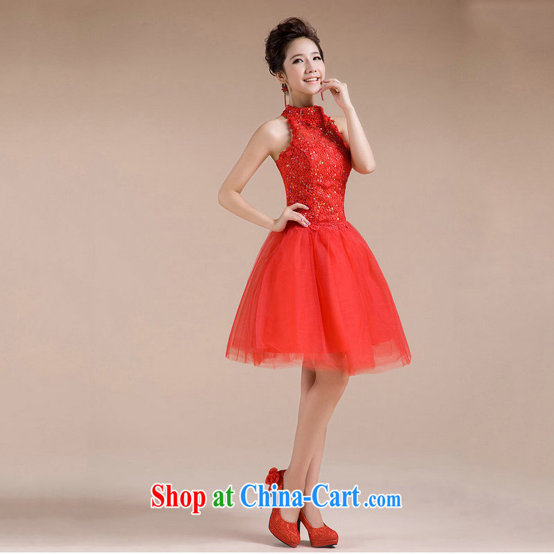 Still, 12,014 new summer small dress is also toast Service Bridal short short dress beauty Evening Dress dress XS 6621 red XXL