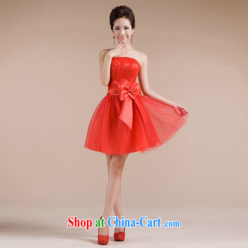 There is a summer new elegance small dress sense of beauty serving toast XS 6605 red XXL