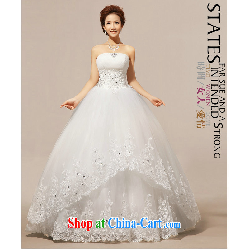 It's a winter wedding Korean version Mary Magdalene chest graphics thin with wedding dresses wedding XS 111 white XXL