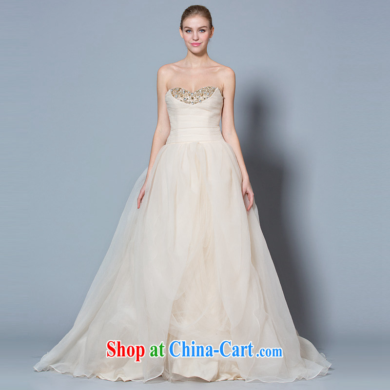 A yarn 2015 Korean-style vera wang Wang Wei wedding shaggy skirt high waist pregnant women video thin wedding spring and summer, the champagne color XXL code 30 days pre-sale