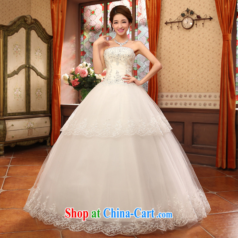 Moon 珪 guijin bridal wedding dress lace lace only small drilled floral with shaggy, wedding HS 5635 m White XXL code from Suzhou shipping