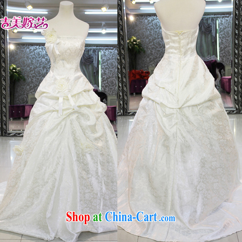 wedding dresses, marry us performing arts 2015 new erase chest Korean Princess skirt tail HT 090 bridal wedding champagne color XXL