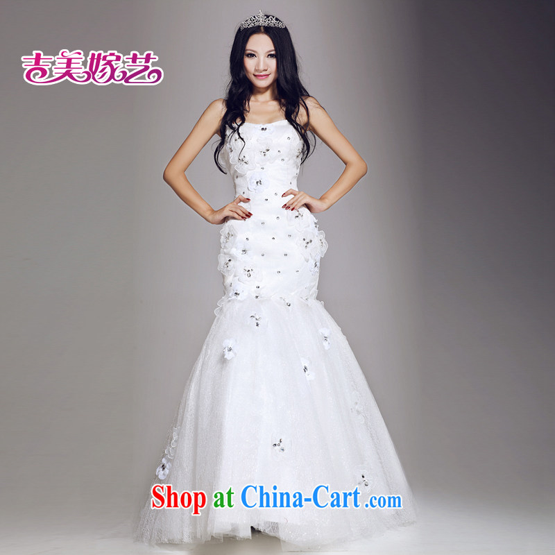 wedding dresses Jimmy married arts 2015 new erase chest Korean beauty with HS 670 bridal wedding white XXL