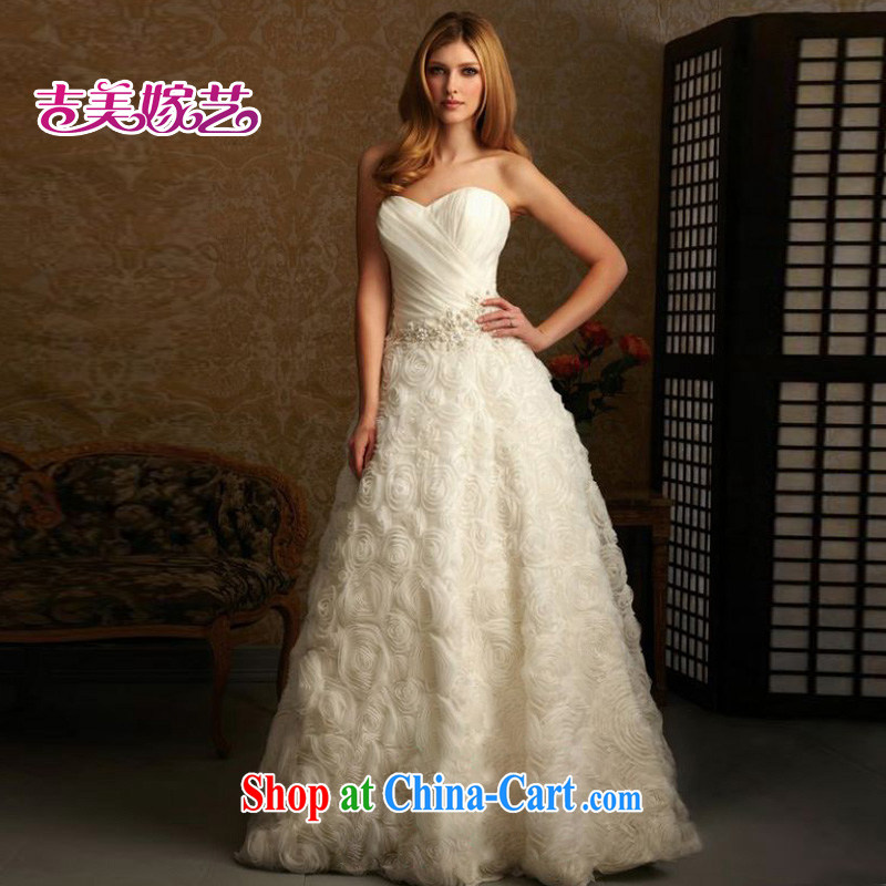 wedding dresses, marry us performing arts 2015 new erase chest Korean Princess skirt HT 677 bridal wedding white L