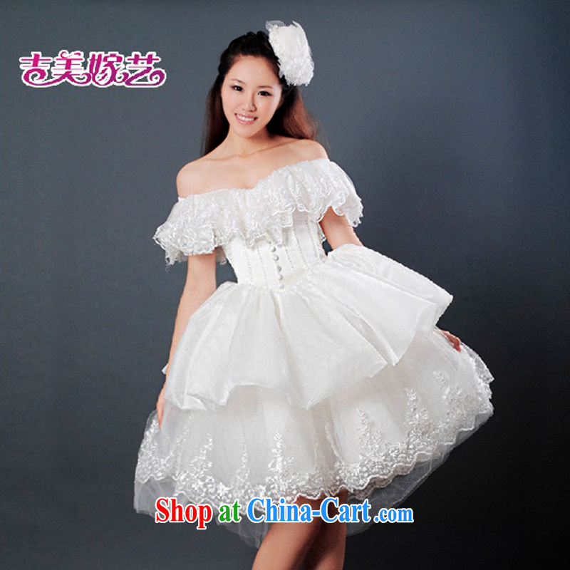 wedding dresses, marry us performing arts 2015 new erase chest Korean short skirts swing HS 096 bridal wedding white XXL