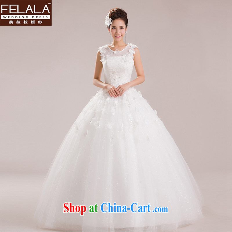 Ferrara 2015 new wedding dresses Korean marriages shaggy skirts water-soluble lace flowers go yarn XL Suzhou shipping