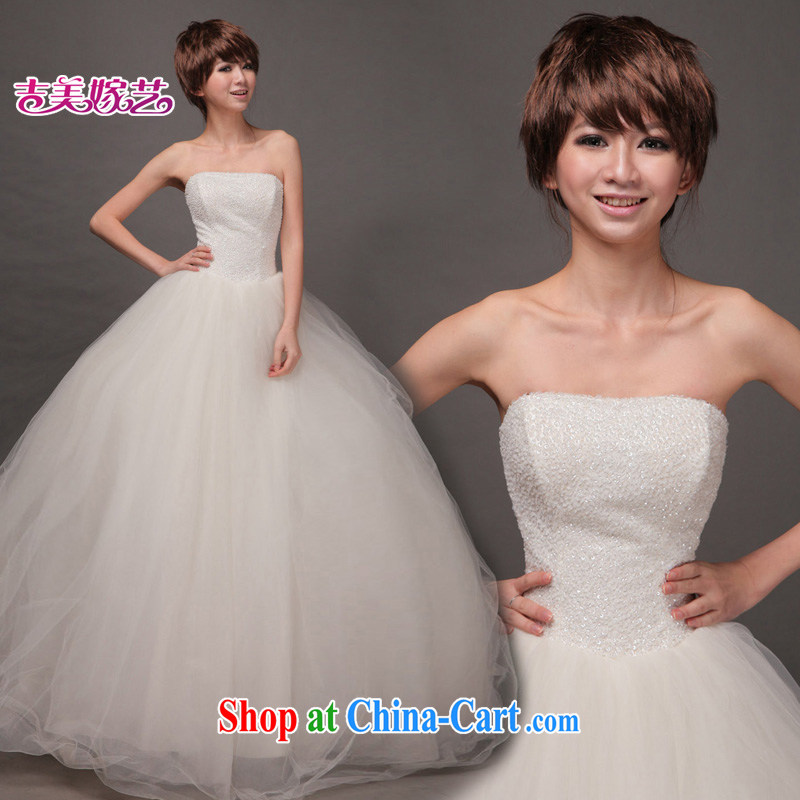 wedding dresses Jimmy married arts 2015 new erase chest Korean shaggy skirts HS 189 bridal wedding white S