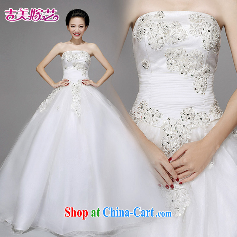 wedding dresses, marry us performing arts 2015 new erase chest Korean shaggy skirts HS 723 bridal wedding white XL