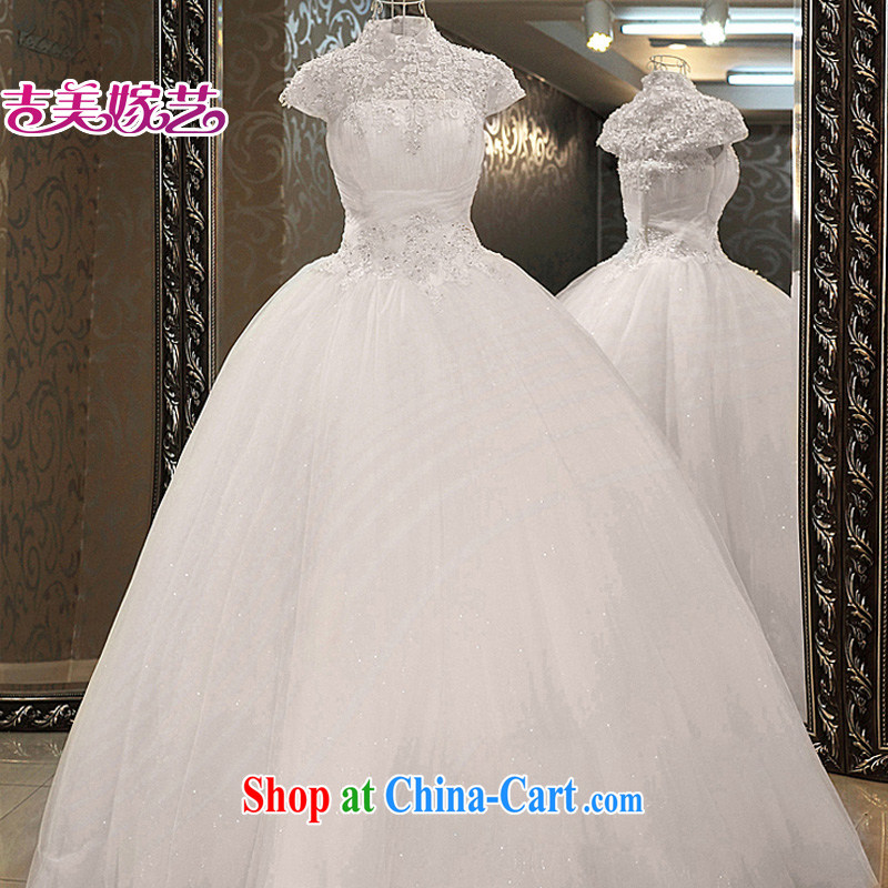 wedding dresses Jimmy married arts 2015 new bag shoulder Korean shaggy skirts HS 939 bridal wedding white S