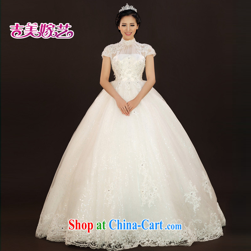 Vladimir Putin, and the Ting Kau, lace wedding dresses, US 2015 new bag shoulder Korean shaggy dress with HS 937 bridal wedding ivory XXL