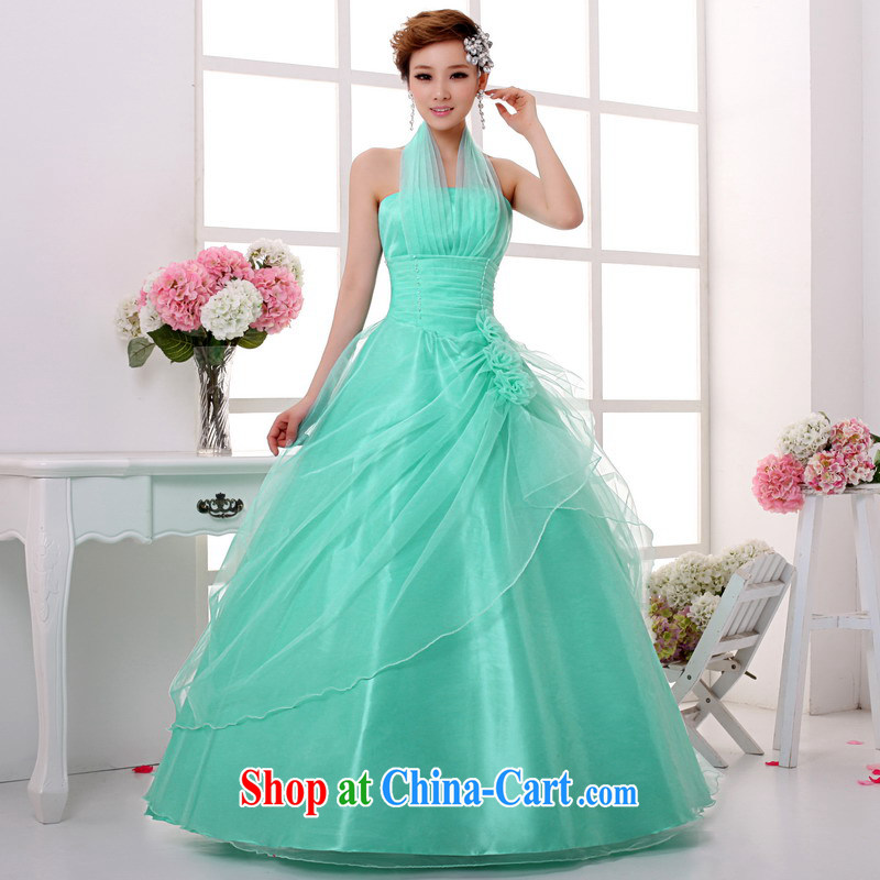 Mrs Alexa Lam given new color wedding dresses bridal wedding toast stage dinner service is also shaggy dress graphics thin 06,782 Ice Blue L