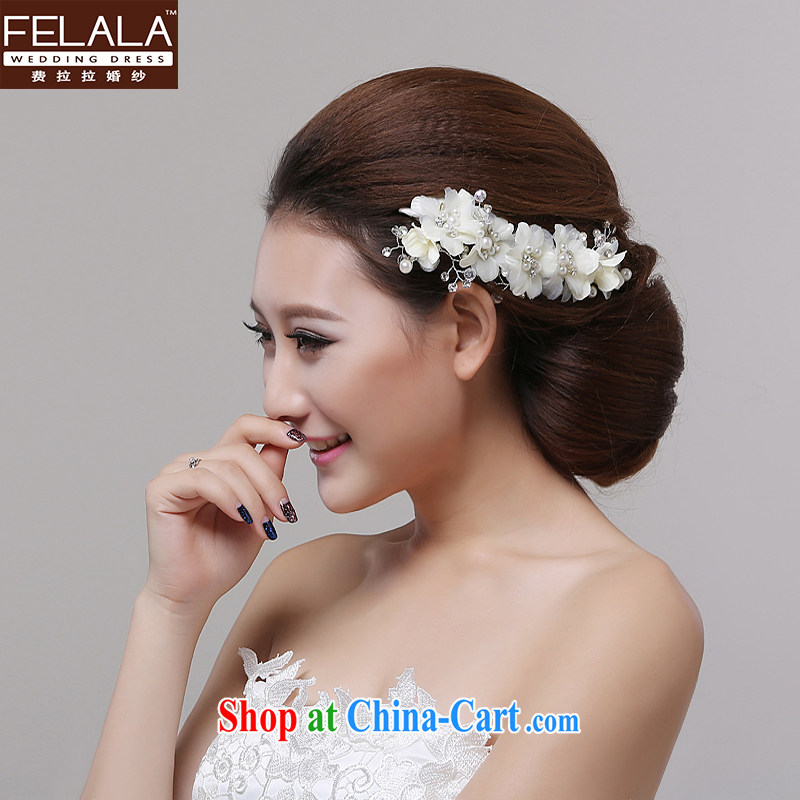 Ferrara jewelry bridal head-dress and a Korean-style lace flowers for wedding jewelry Pearl water drilling wedding hair accessories