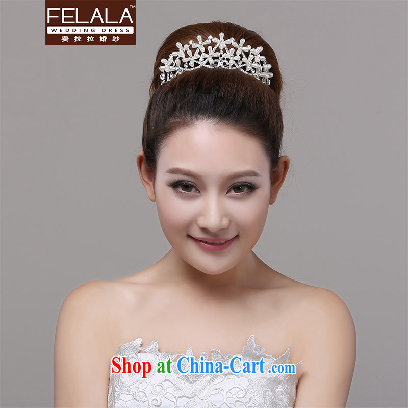 Ferrara Korean-style Pearl water drilling bridal jewelry bridal necklace crown and ornaments wedding dresses accessories hair accessories
