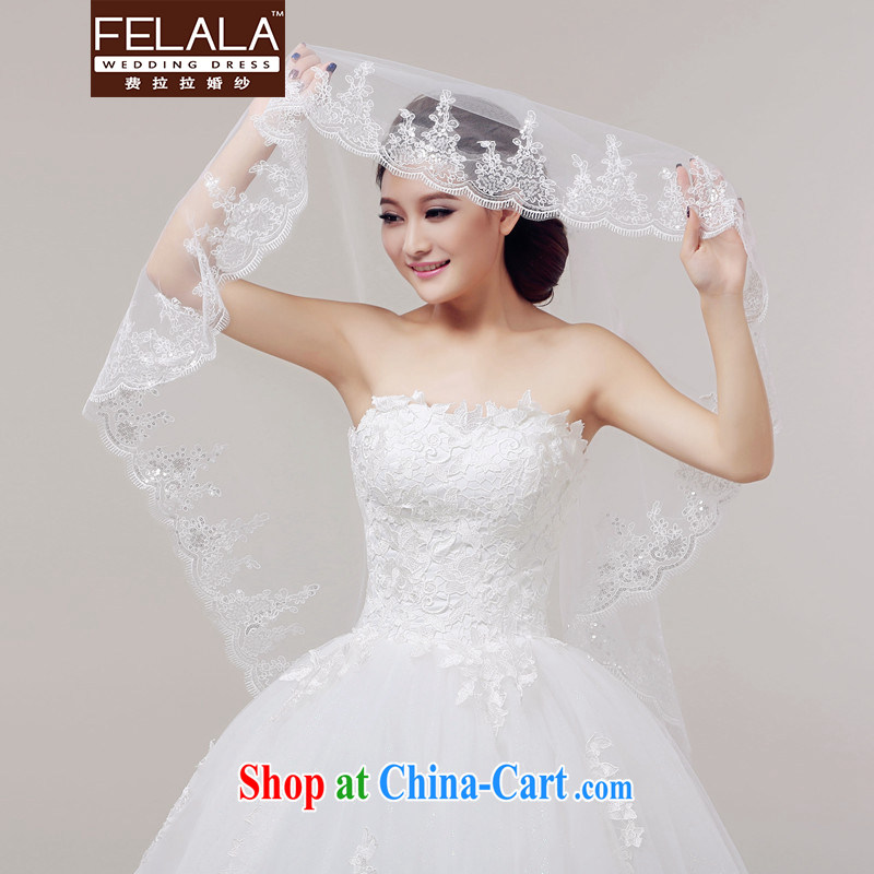 Ferrara new striking 1.5 M luxury, lace lace and yarn wedding accessories Won-the-head yarn, La wedding (FELALA), shopping on the Internet