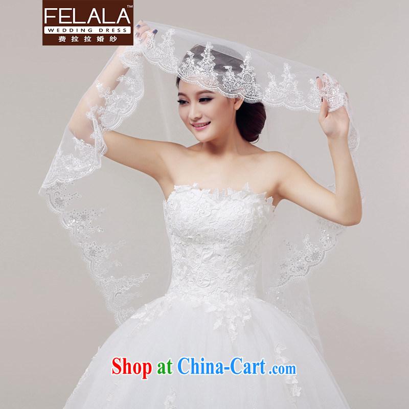 Ferrara new striking 1.5 M luxury, lace lace and yarn wedding accessories Won-the-head yarn, La wedding (FELALA), shopping on the Internet